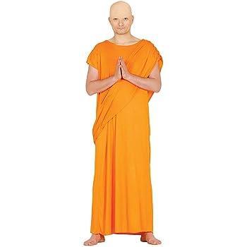 NET TOYS Original Disfraz Monje Budista para Adultos - Naranja L ...