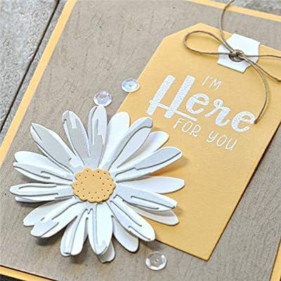Daisy Flower Cutting Dies,Letmefun Metal Cutting Dies Stencils Scrapbooking Bloom Die Cut for Card Making DIY Album Embossing Craft New 2019