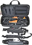 Explorer Mojo Padded Rifle Tactical Carrying Case Gun Bag Military Backpack Weapon Hard Case with Strap 28' x 11' x 6.5'