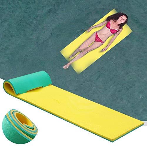 "66.9""× 21.6""Floating Water Pad Mat, Tear-Resistant XPE Foam Floating Mat for Beach Ocean Lake Pool Sunbathing Water Sports Picnics - Best Size for Kids"