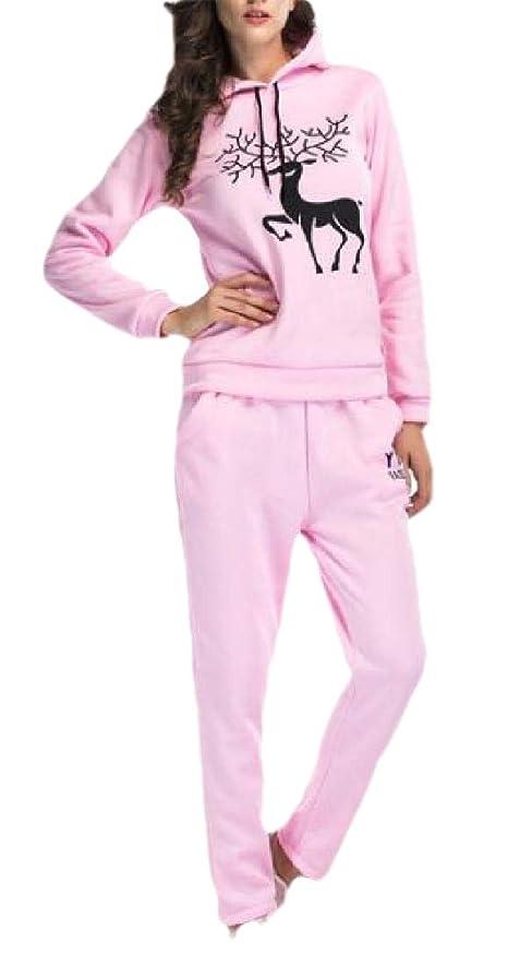 支配的かんがい差し控えるWomens 2 Piece Outfits Sweatsuits Long Sleeve Sweatshirt Pants Tracksuit Set
