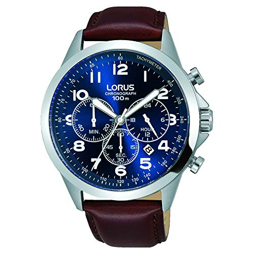 Lorus Gents Chronograph Stainless Steel Case Strap Watch