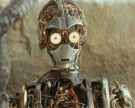 ブロマイド写真★『スター・ウォーズ/EP1』C-3PO/未完成アップ