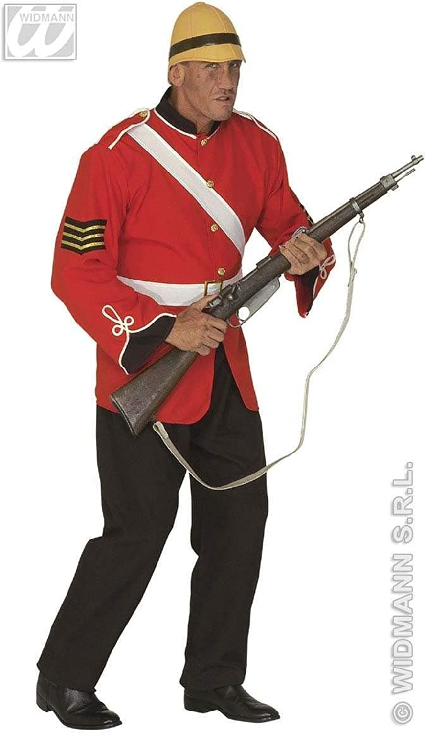 Mens British Soldier Costume Extra Large UK 46  for Military Army War Fancy Dress