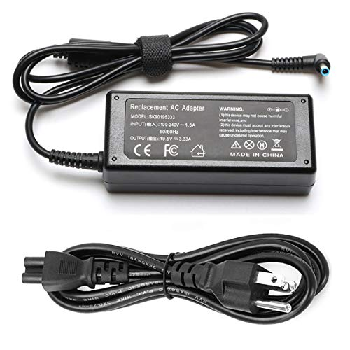 65W AC Adapter Laptop Charger Compatible for HP Envy 13 15 17 X360 15-1039wm 15-1033wm 15-w117cl 15-w237cl 15m-cn0011dx 15m-bp111dx 15m-bq121dx 17m-bw0013dx Laptop Notebook PC Power Supply Cord