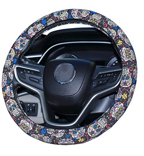 Mayco Bell 2019 New Sugar Skull Day of the Dead Steering Wheel Cov