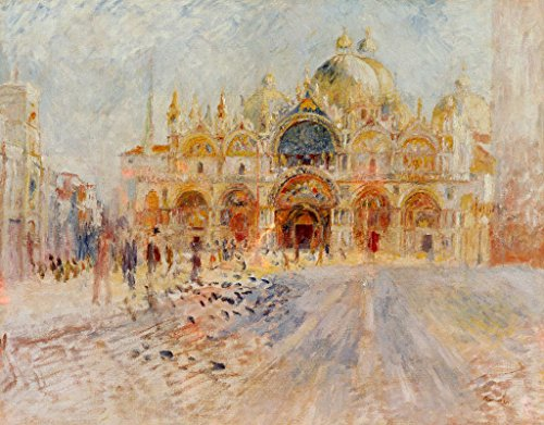Kunst für Alle Impresión artística/Póster: Pierre Auguste Renoir The Piazza San Marco Venice 1881