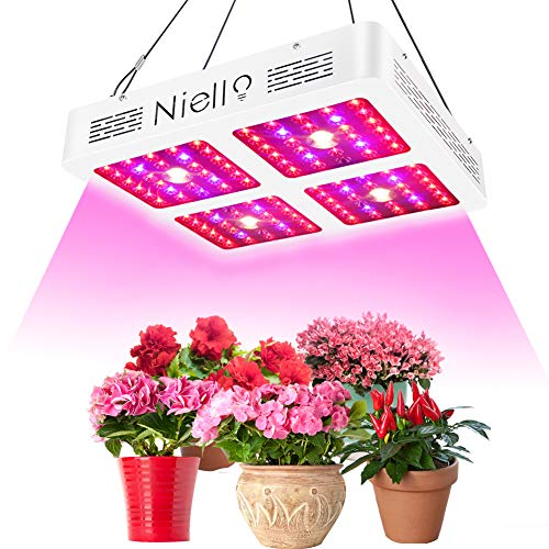 CREE COB lampada da coltivazione, Niello 1200W Riflettore LED Pianta la lampada, spettro completo Par Parre chip crescono la luce per le piante d'appartamento Veg e fiore, Daisy Chain Function