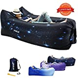 yeacar Inflatable Lounger Air Sofa, Portable Waterproof Indoor or Outdoor Inflatable Couch for Camping Park Hiking Travelling Picnics Pool Music Festivals and Beach Party