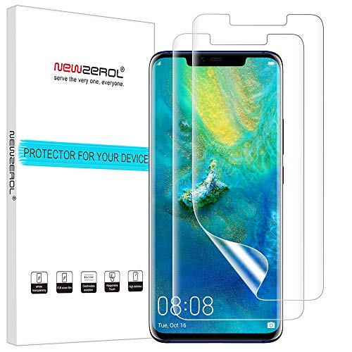 NEWZEROL [2 stück Ersatz für Mate 20 RS/Huawei Mate 20 Pro Schutzfolie (Premium-Qualität) [ Support Fingerprint ID] Displayschutzfolie Anti-Bubble TPU - CLAR