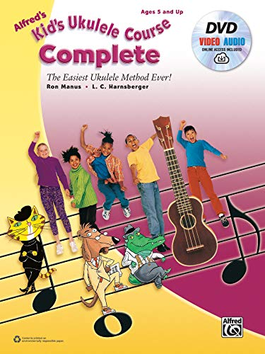 Alfred's Kid's Ukulele Course Complete: The Easiest Ukulele Method Ever!, Book, DVD & Online Video/Audio