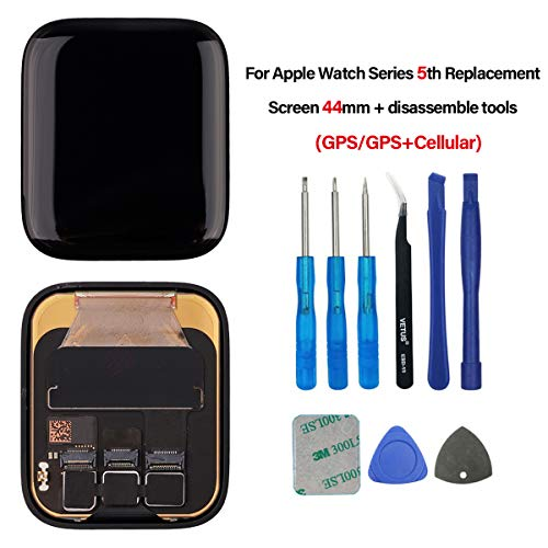 Swark LCD-scherm compatibel met Apple Watch Series 5 44 mm (5e generatie) GPS + cellular/GPS LCD-scherm en Digitizer Assembly + Tools