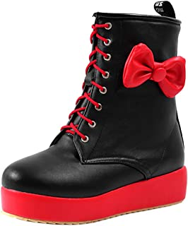 Melady Women Sweet Boots with Bow Martin Boots
