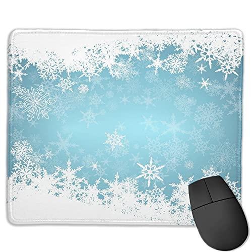 Alfombrilla de ratón de Oficina,Congelado Plata Nevado Navidad Copos de Nieve,Base de Goma Antideslizante Alfombrilla de ratón para Juegos Alfombrilla Decoración de Escritorio 9.8'x11.8'