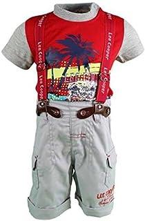 55e4d94eb952d Lee Cooper - ensemble t-shirt et short salopette - bébé garçon