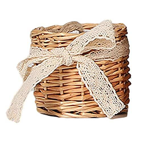 SONG Picnic Basket Handmade Wicker Woven Basket Candy Basket Storage Basket Wedding Basket For Home Kitchen Food Fruit Storage (Color : S)
