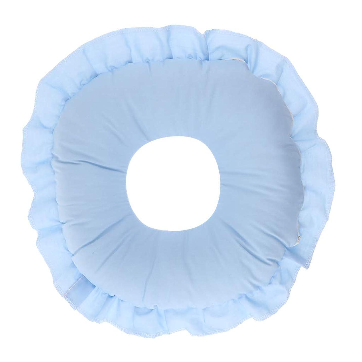 講義クリックマウントバンクD DOLITY フェイスピロー 顔枕 マッサージ枕 フェイスクッション ソフト 洗えるカバー 全3色 - 青