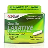 Avedana Laxative Suppositories – 10mg USP Bisacodyl Suppositories – Fast and Gentle Constipation Relief – Comfort-Shaped Bisacodyl Laxative Suppository – Pack of 16 Suppositories