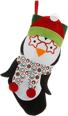 A FEI Christmas Stockings Xmas Socks 3D Cartoon Santa Reindeer Gift Bags for Fireplace Christmas Tree