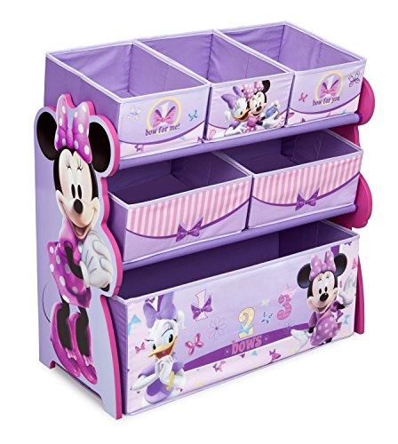 Delta Children 6-Bin Toy Storage Organizer, Disney Minnie Mouse