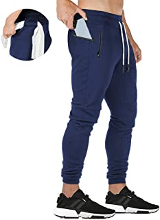 ZOXOZ Pantaloni Sportivi Uomo Cotone con Tasche Zip Pantaloni Tuta Uomo