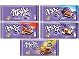 Milka Chocolate Bars Assorted Bundle of 5 (Bundle #1)