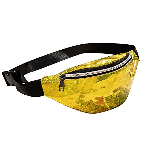 KiyomiQvQ Damen Gürteltasche Verstellbarer Gurt Bauchtasche Elegante Tasche Clutch Bag Handtasche für Reise Wanderung Outdoor Damen Glänzend Handtasche