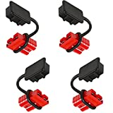 Orion Motor Tech 4 Pcs 2-4 Gauge 175A Battery Cable Quick Connect Disconnect Plug Kit Recovery Winch Trailer, 12-36V DC (4 Pcs)