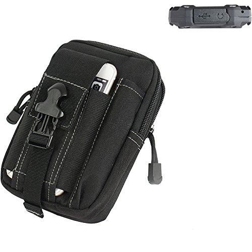 K-S-Trade® Gürtel Tasche Für Simvalley Mobile SPT-210 Gürteltasche Schutzhülle Handy Hülle Smartphone Outdoor Handyhülle Schwarz Zusatzfächer