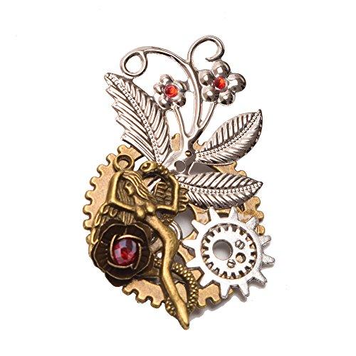 GRACEART Steampunk Getriebe Brosche (A)