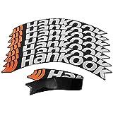 Dequate reifenaufkleber Auto - 8X Reifensticker, wasserdicht Reifenaufkleber Set, reifenbeschriftung Aufkleber Universal für Automative Motorrad