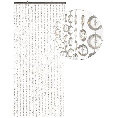 HAB & GUT -DV0355- Türvorhang DIAMANTEN, klar 90 x 200 cm Perlenvorhang Pailettenvorhang