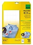 Sigel - Etiquetas de ropa con agujero para hilo de plástico (38 x 55 mm, 200...