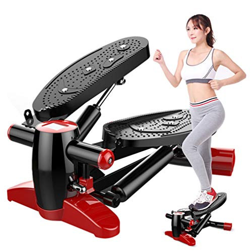 Review Mini Fitness Hydraulic Stepper, Compact Men and Women Stepper Cardio Exercise Trainer, with T...