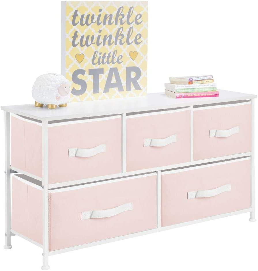 mDesign Horizontal Spring new work one after another Storage Dresser Unit Colorado Springs Mall - Fur Kid and Baby Large