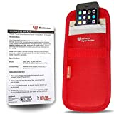 Defender Signal Blocking Pouch RFID - Phone Case Signal Blocking Device - Car Key Signal Blocker Pouch Security Case - Signal Blocking Wallet For Car Keys Mobile Phone Cards - Red 2 x Pack