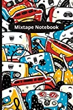 Mixtape Notebook: Fun Cassette Players - 120 lined pages (6' x 9') ideal gift for office, general or student use