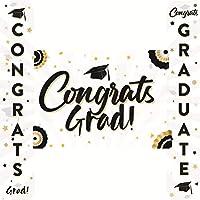 PRETYZOOM 3ピース卒業ポーチサイン2020卒業バナー2020おめでとう卒業卒業パーティーぶら下げフラグバナー看板フロントドア壁ヤード