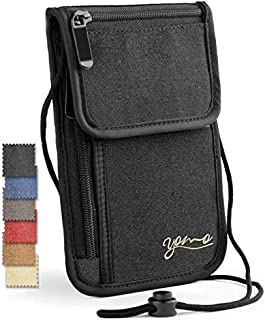 Passport Holder- by YOMO. RFID Safe. The Classic Neck Travel Wallet
