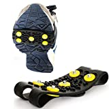 IKevan_ Non-Slip Snow Cleats Anti-Slip Overshoes Studded Ice Traction Shoes Cover Spikes Gripper for Snow Mud Mountain