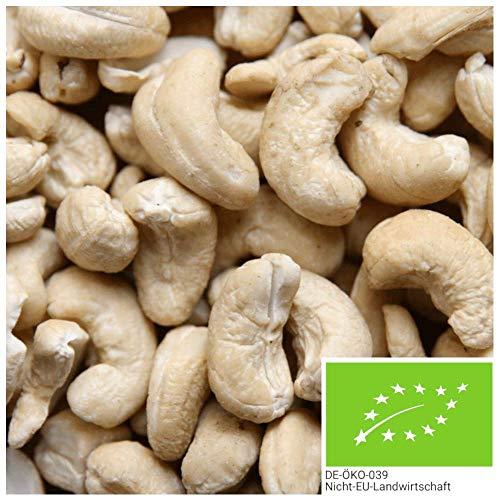 1kg BIO Cashewkerne natur - Ganze Cashew Nüsse, unbehandelt und ohne Zusätze aus kontrolliert...