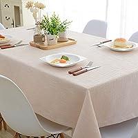 和風テーブル クロス リネン,正方形の四角形のシンプルなモダンな無地テーブル クロス ラウンド テーブル ダイニング テーブル コーヒー側テーブル テレビ キャビネット デスク-D