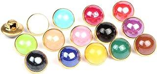 HEALLILY 120 peças de botões decorativos de pérola, botão de haste de metal, botão de orifício único para artesanato, scra...