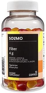Amazon Brand - Solimo Fiber 4g - Digestive Health, Suppports Regularity - 90 Gummies (2 Gummies per Serving)