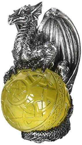Design Toscano CL5541 Ornements d'arbre de Noël - Protecteur du portail gothique de dragon de vacances Ornement celtique - Statue de dragon
