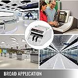 VEVOR FJ0288 Geldzählmaschine Weiß mit Echtheitprüfung Banknotenzähler 1000 Stück/min mit UV- und MG-Systeme 7 kg Geldscheinzähler mit LED Bildschirm für Euro Dollar Pfund (26 x 23,5 x 17 cm) - 8