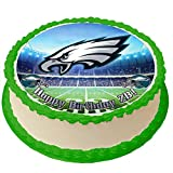Eagles Personalized Cake Topper 8 Inches Round Birthday Cake Topper