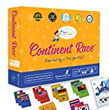 Continent Race Geography for Kids Card Game - Kids 7+ Award Winning - Learn Continents & Countries World Map,...