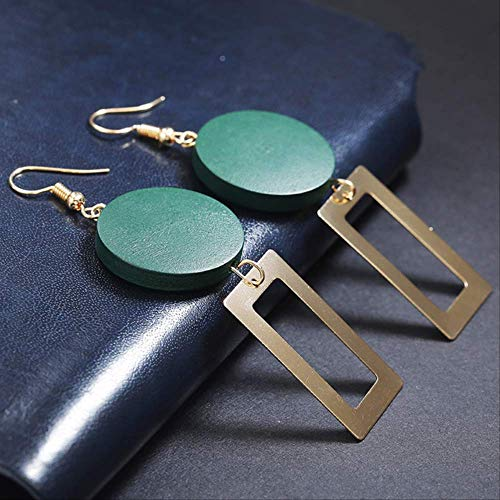 Oorspelden Ontwerp Geometrie Druppel oorbellen voor vrouwen Rechthoek oorbellen voor vrouwen Bruiloft sieraden Cadeaugroen