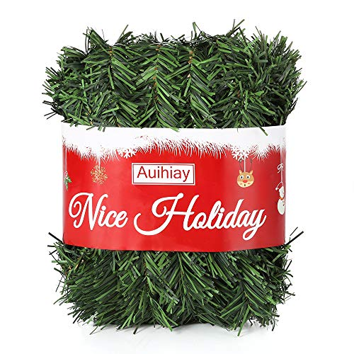 Auihiay 16.5M Christmas Garland Decoration Artificial Pine Garland Green Holiday Garland for Outdoor or Indoor Christmas Holiday Wedding Party Decorations